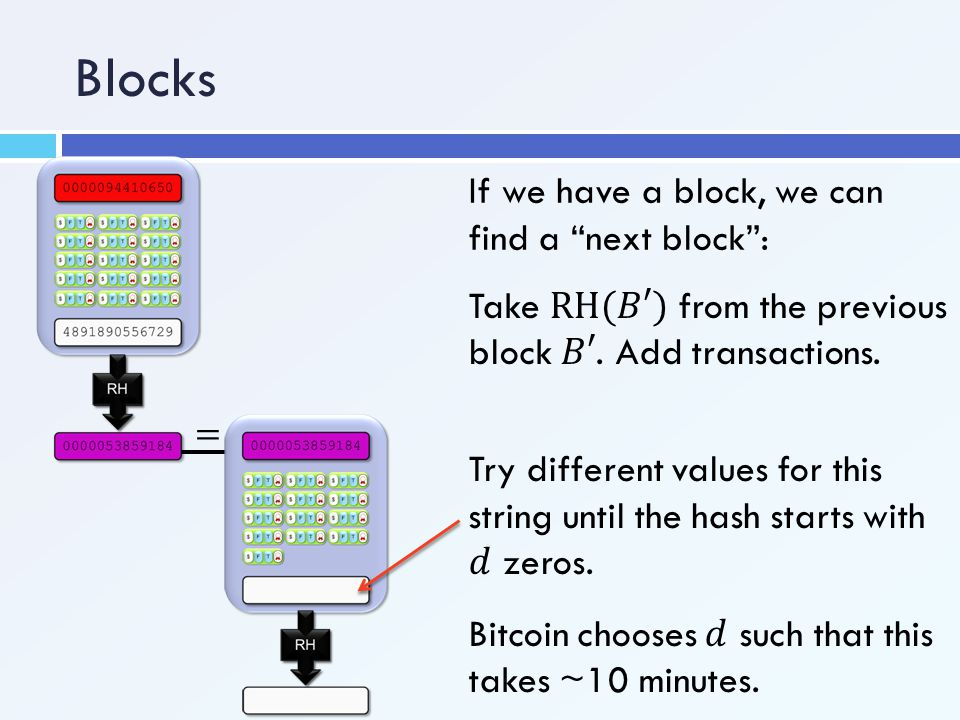 """Blocks If we have a block, we can find a """"next block"""":"""