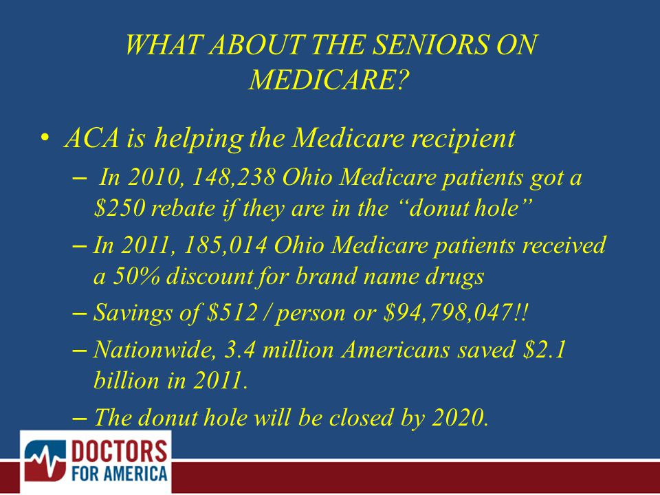 WHAT ABOUT THE SENIORS ON MEDICARE.