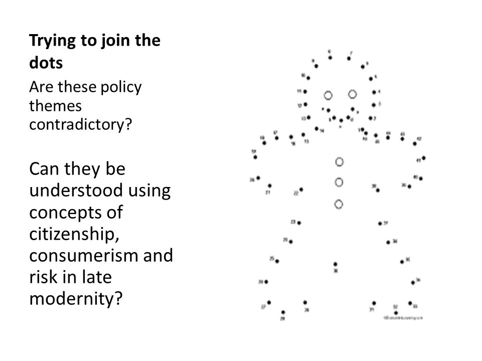 Trying to join the dots Are these policy themes contradictory.