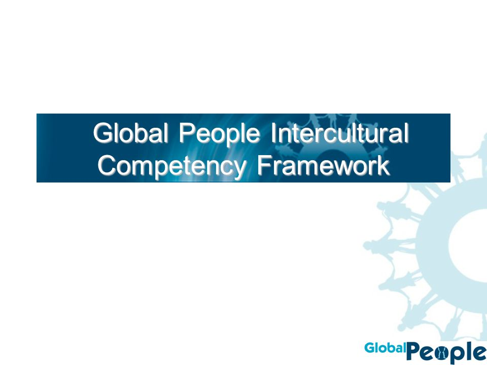 Global People Intercultural Competency Framework