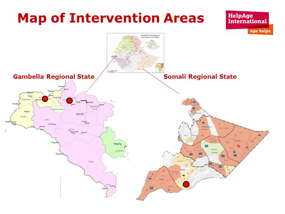 Map of Intervention Areas Gambella Regional State Somali Regional State
