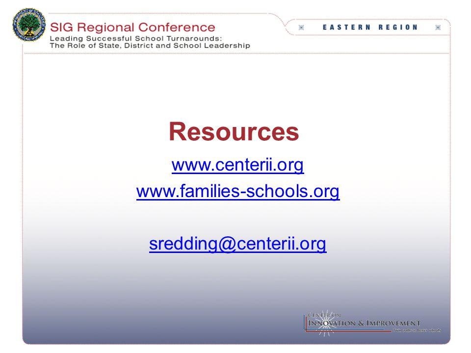 Resources www.centerii.org www.families-schools.org sredding@centerii.org