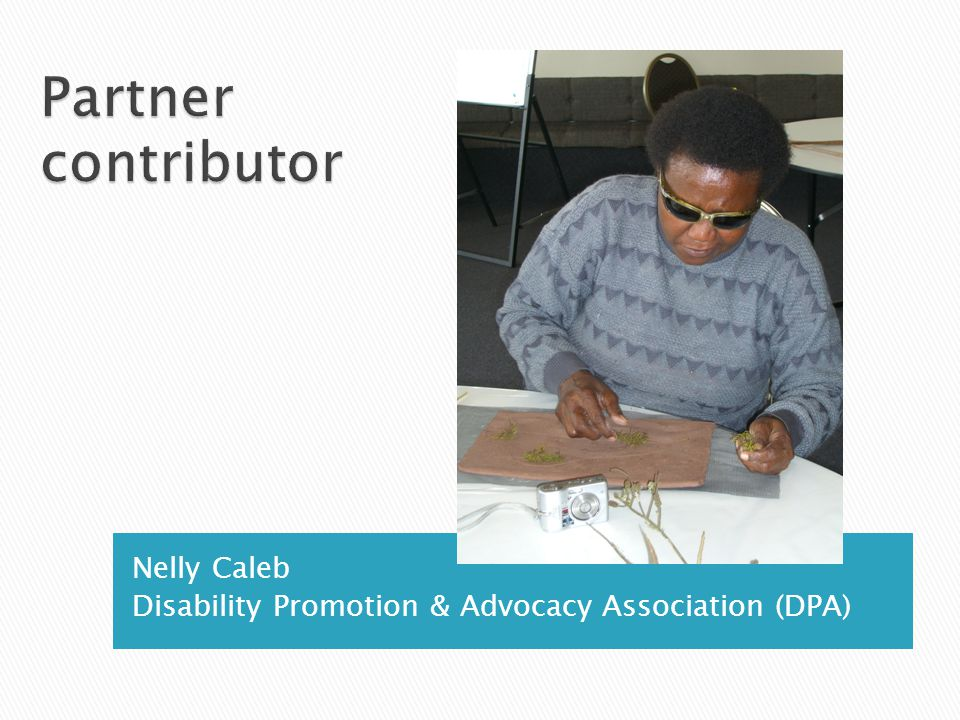 Nelly Caleb Disability Promotion & Advocacy Association (DPA)