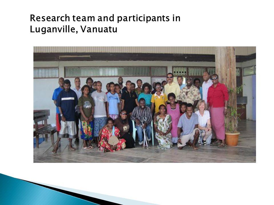 Research team and participants in Luganville, Vanuatu