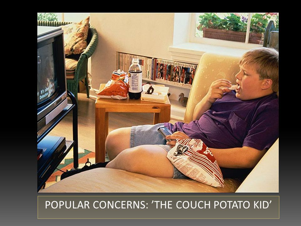 POPULAR CONCERNS: 'THE COUCH POTATO KID'