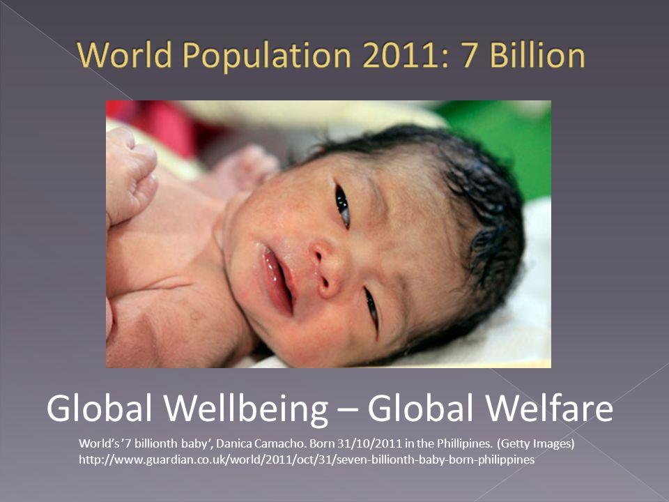 World's '7 billionth baby', Danica Camacho. Born 31/10/2011 in the Phillipines.