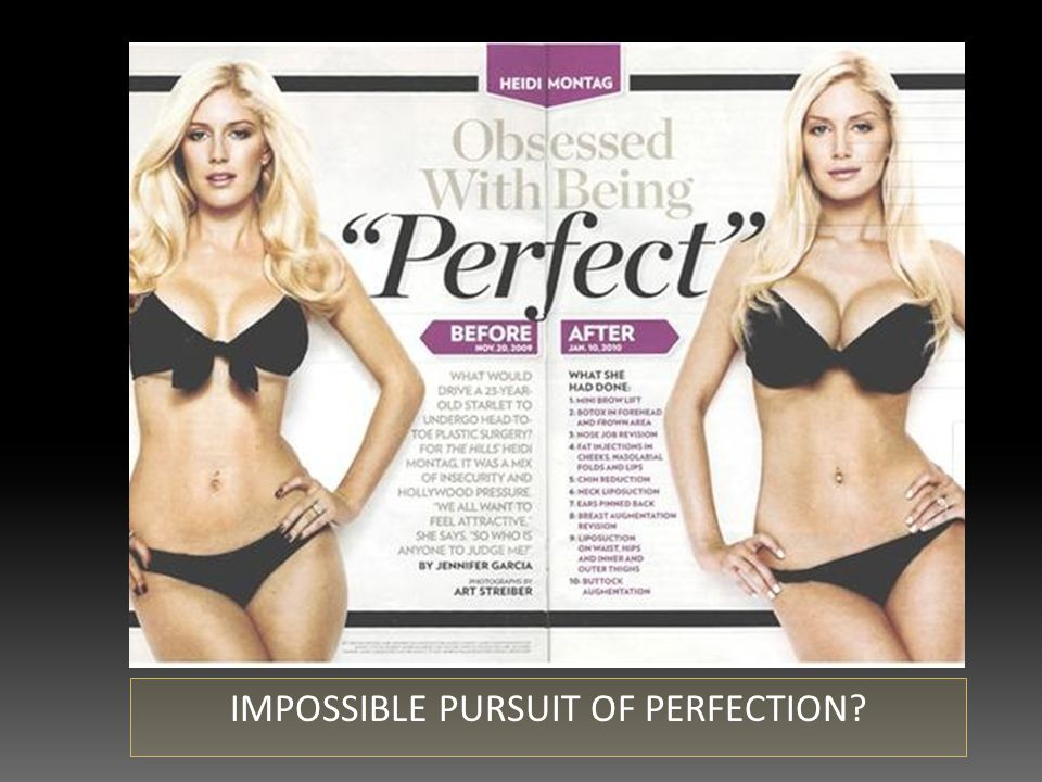 IMPOSSIBLE PURSUIT OF PERFECTION?