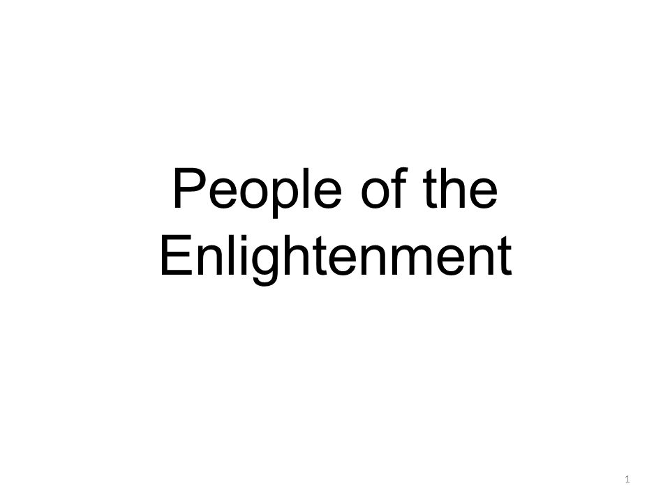 People of the Enlightenment 1