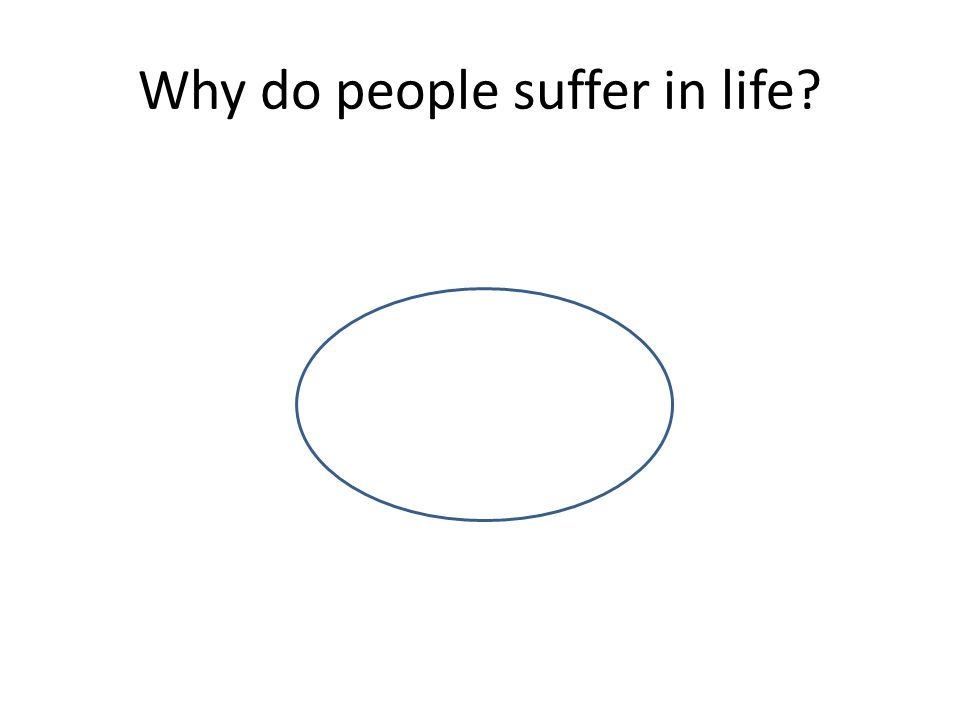 Why do people suffer in life?