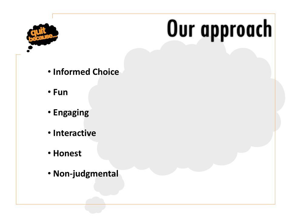 Informed Choice Fun Engaging Interactive Honest Non-judgmental