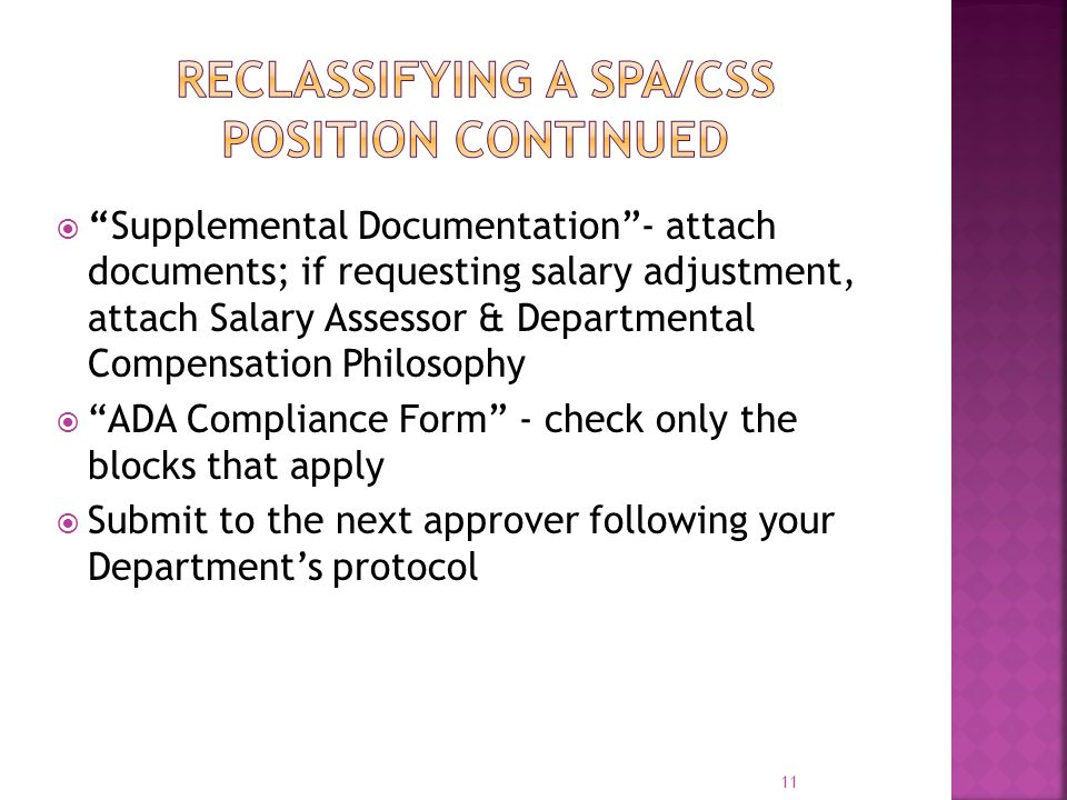 " ""Supplemental Documentation""- attach documents; if requesting salary adjustment, attach Salary Assessor & Departmental Compensation Philosophy  ""AD"
