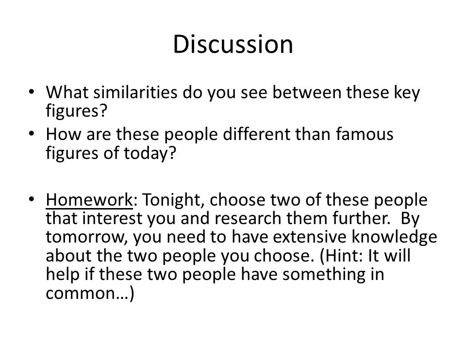 Discussion What similarities do you see between these key figures.