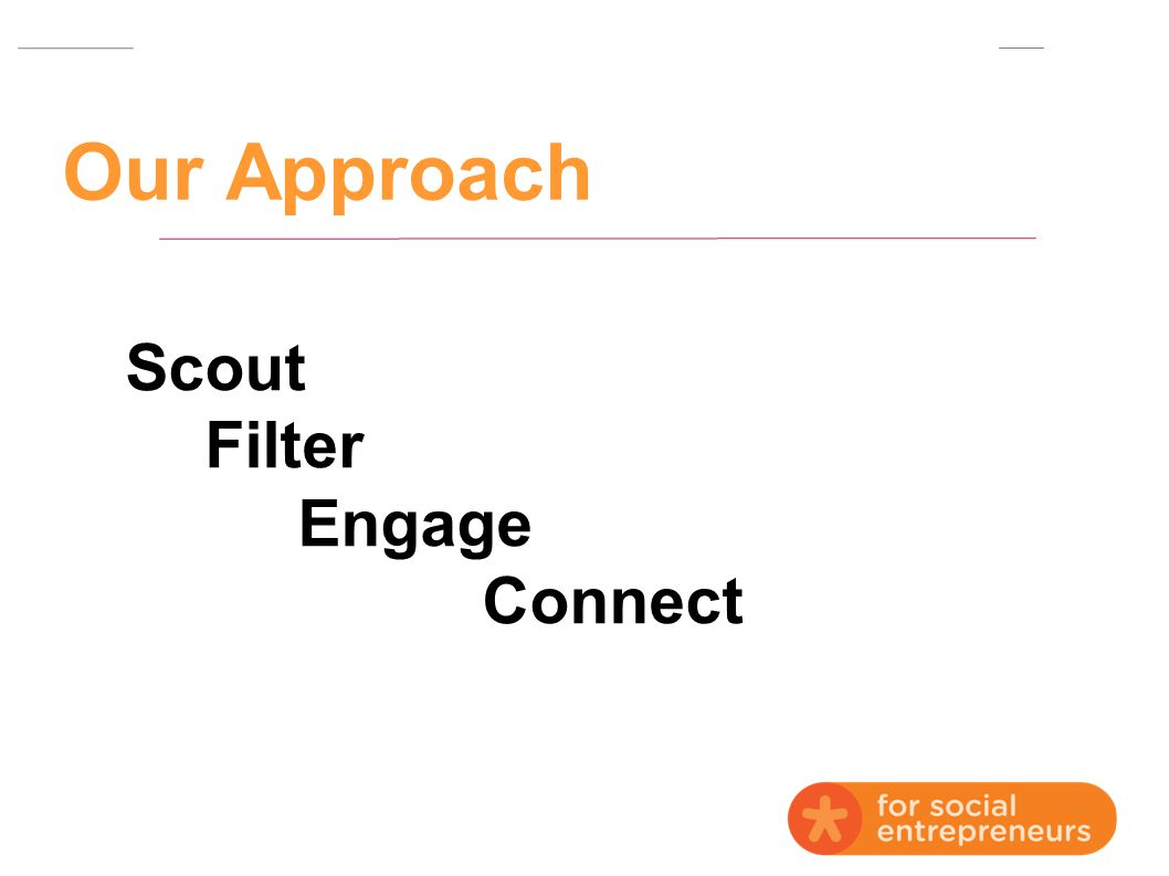 Our Approach Scout Filter Engage Connect