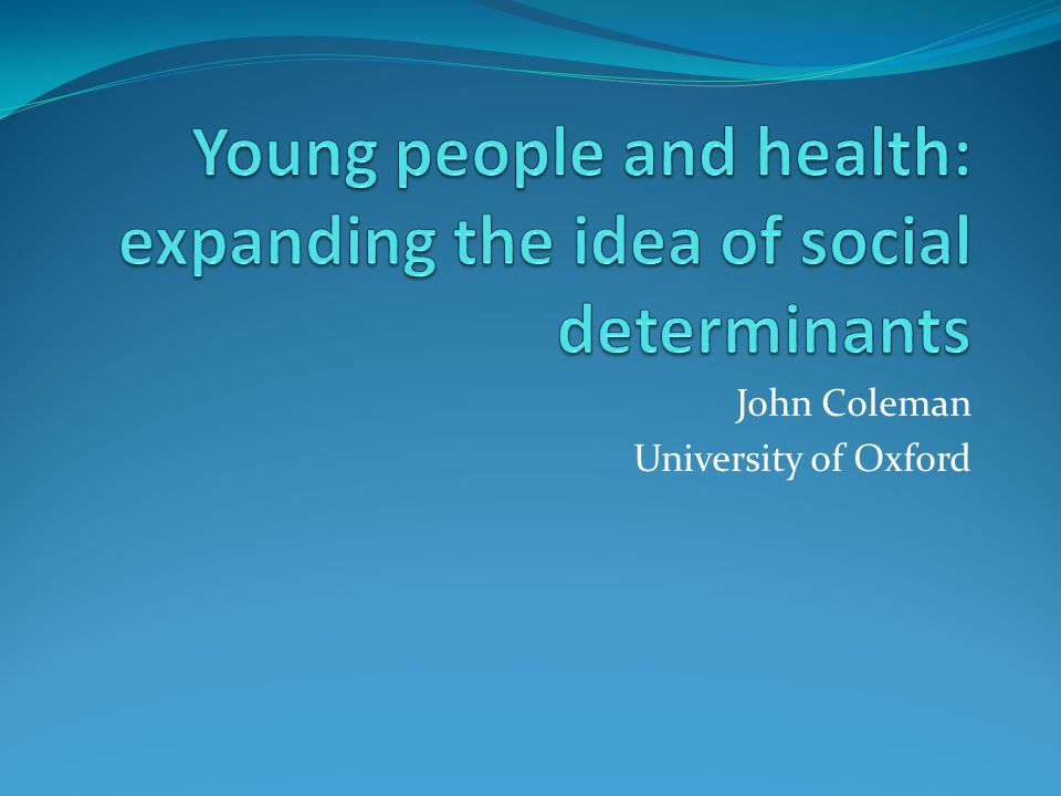 John Coleman University of Oxford