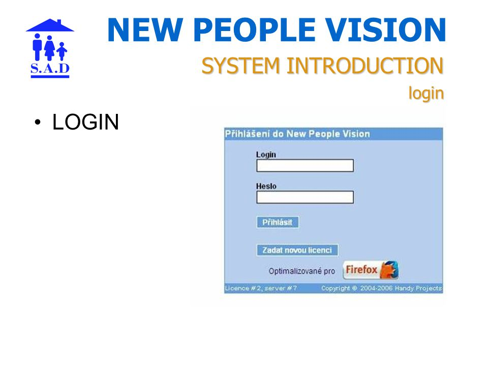 NEW PEOPLE VISION LOGIN SYSTEM INTRODUCTION login