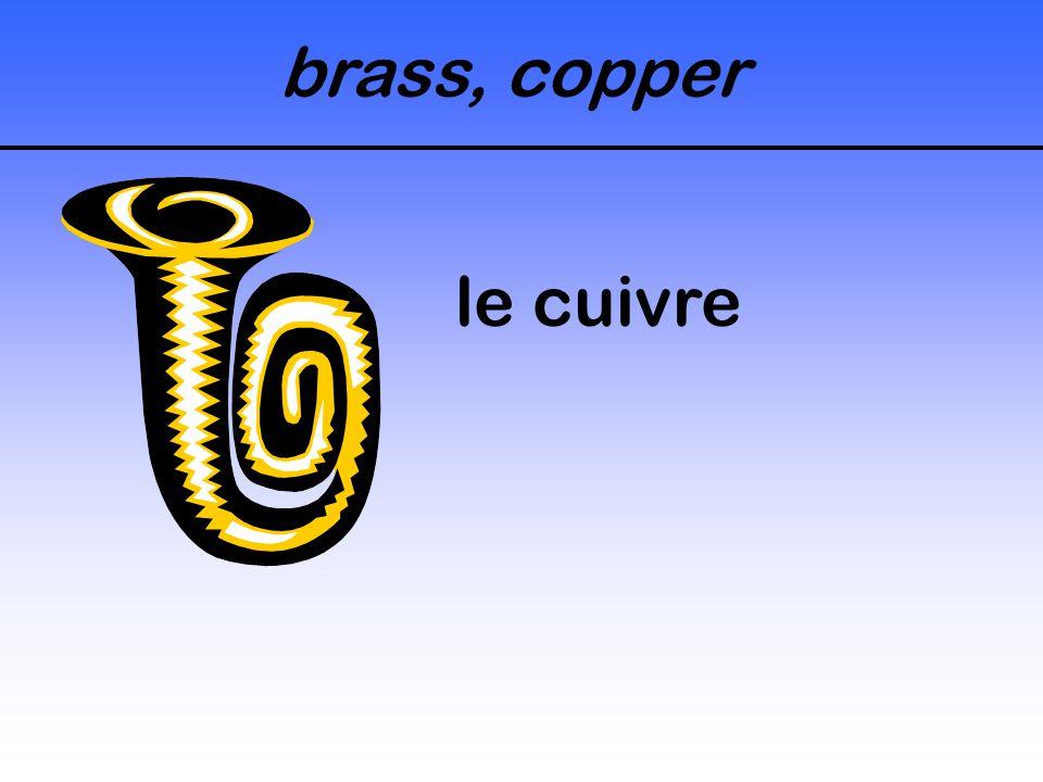 brass, copper le cuivre