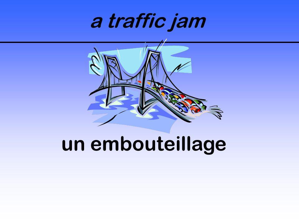 a traffic jam un embouteillage