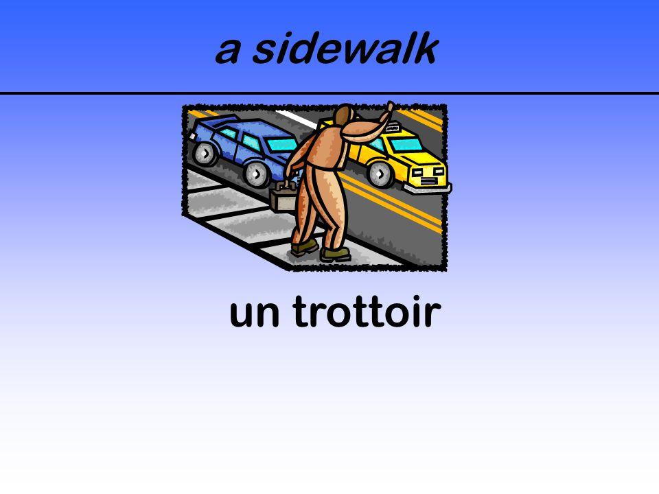 a sidewalk un trottoir