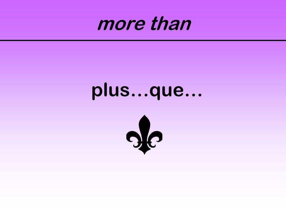 more than plus…que…