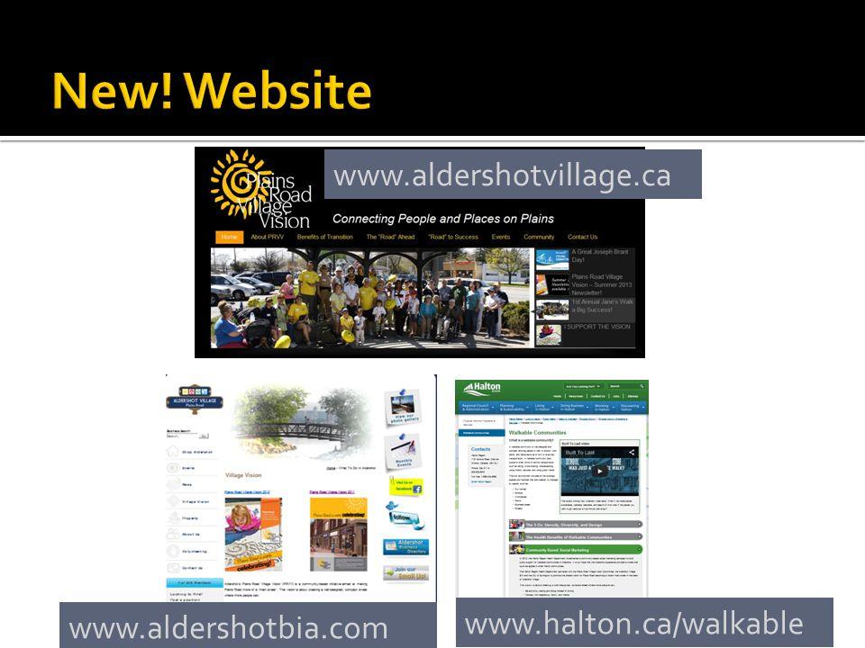 www.aldershotvillage.ca www.halton.ca/walkable www.aldershotbia.com