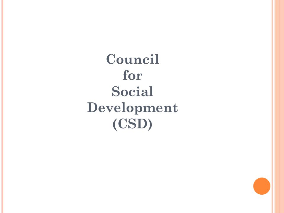 Council for Social Development (CSD)