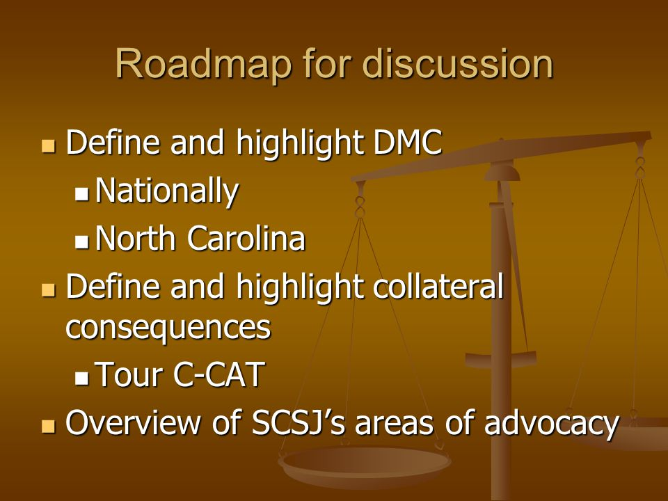 Roadmap for discussion Define and highlight DMC Define and highlight DMC Nationally Nationally North Carolina North Carolina Define and highlight coll