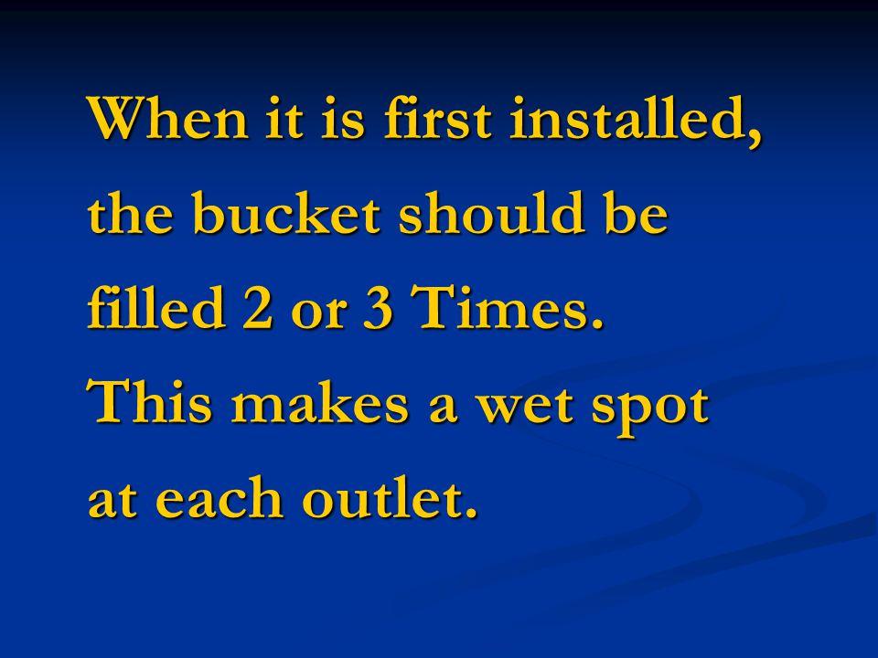 The same Bucket Kit The same Bucket Kit can Also be Used For : can Also be Used For : 4 rows 25 feet long 4 rows 25 feet long or or 6 rows 16.5 feet l
