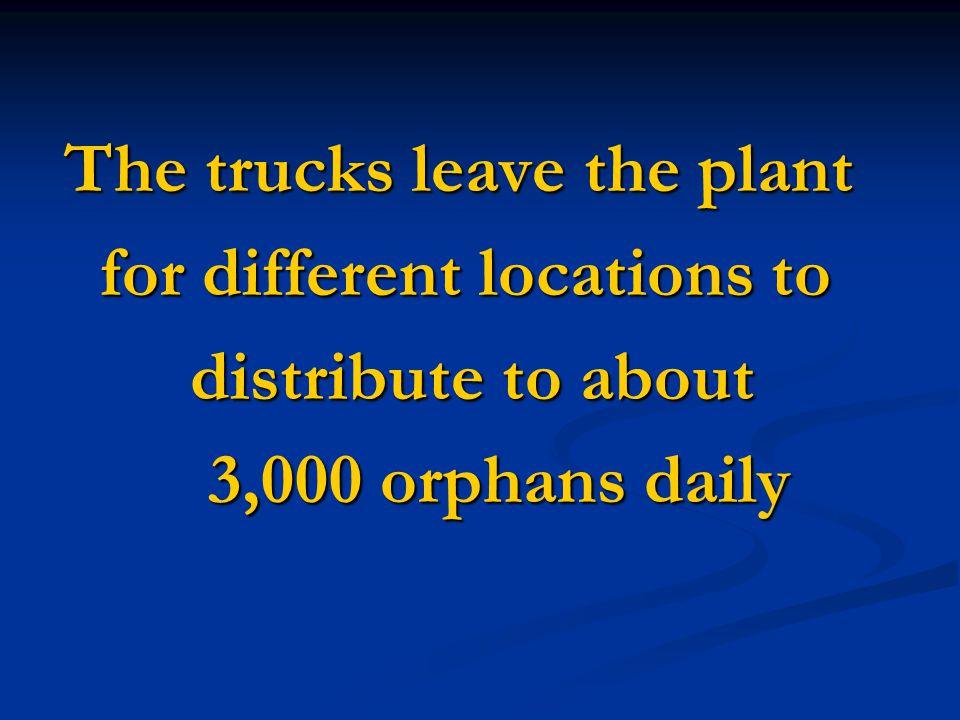 Their goal was to provide Their goal was to provide a nutritious VitaMeal to a nutritious VitaMeal to 25,000 orphans daily. 25,000 orphans daily. By F
