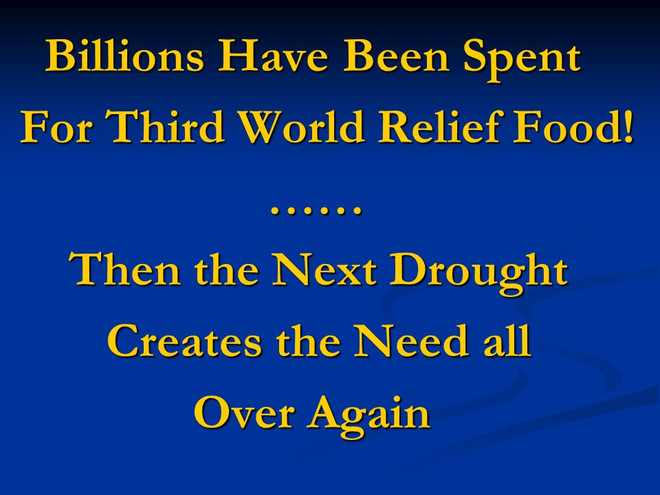 Worldwide Droughts Worldwide Droughts Result in Result in Millions of People Millions of People Going to Bed Hungry