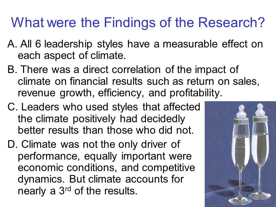 What were the Findings of the Research.A.