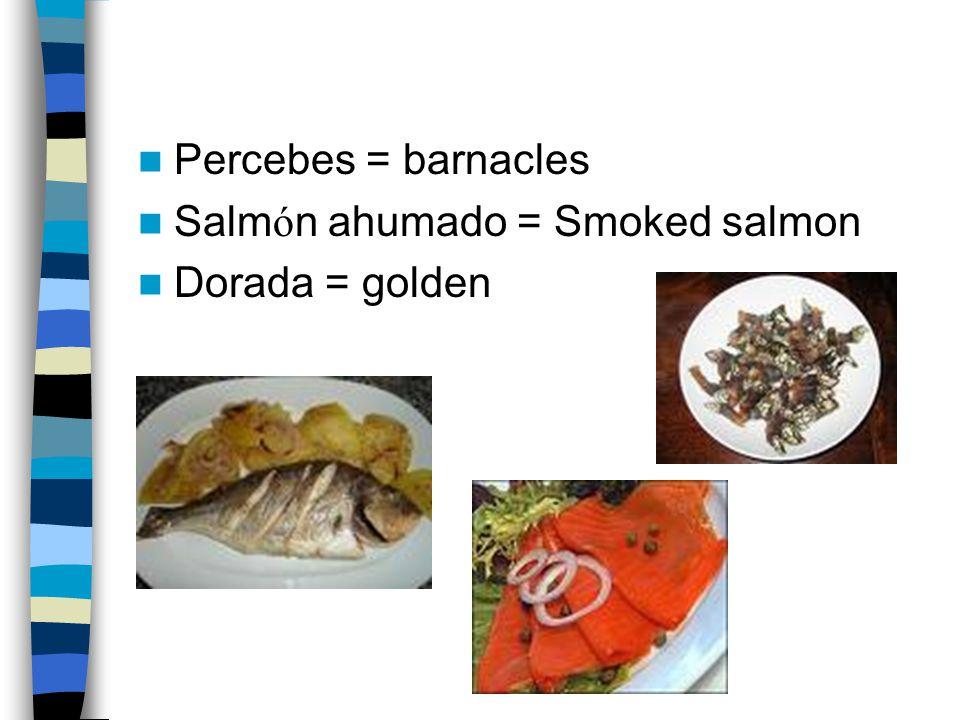Carne rellena = stuffed meat Marisco = seafood Angulas = elvers