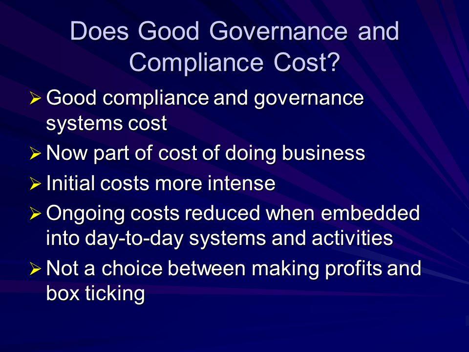 Creating Value  Good governance can increase firm value  McKinsey Quarterly studies (2000, 2002)  KPMG study (2003)  Harvard study (2003)