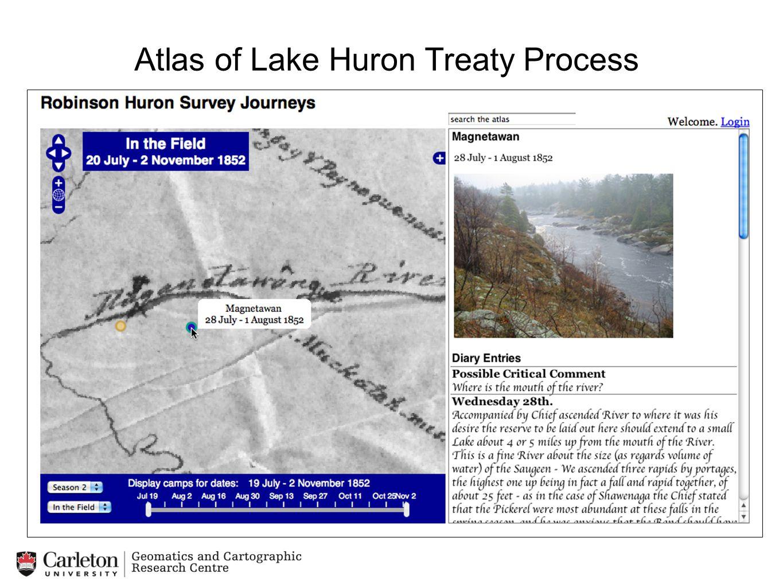 Example: Mapping the Survey Journeys (1851-1853) under the Robinson Huron Treaty Atlas of Lake Huron Treaty Process