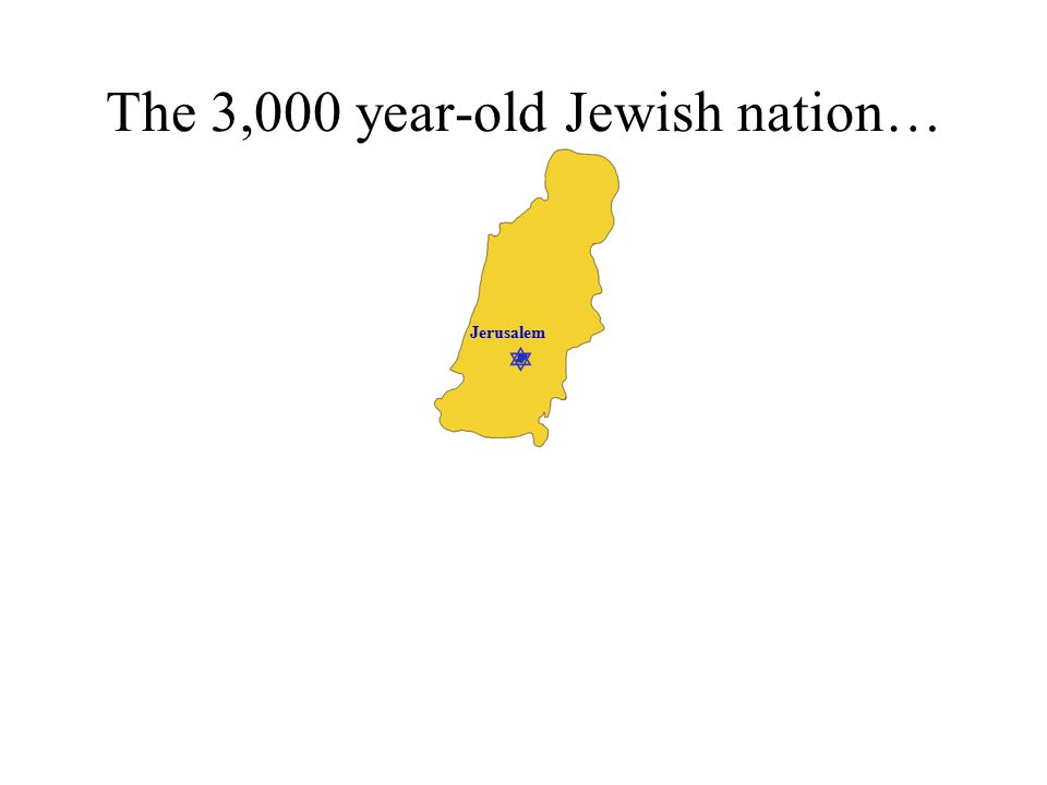  Jerusalem The 3,000 year-old Jewish nation…