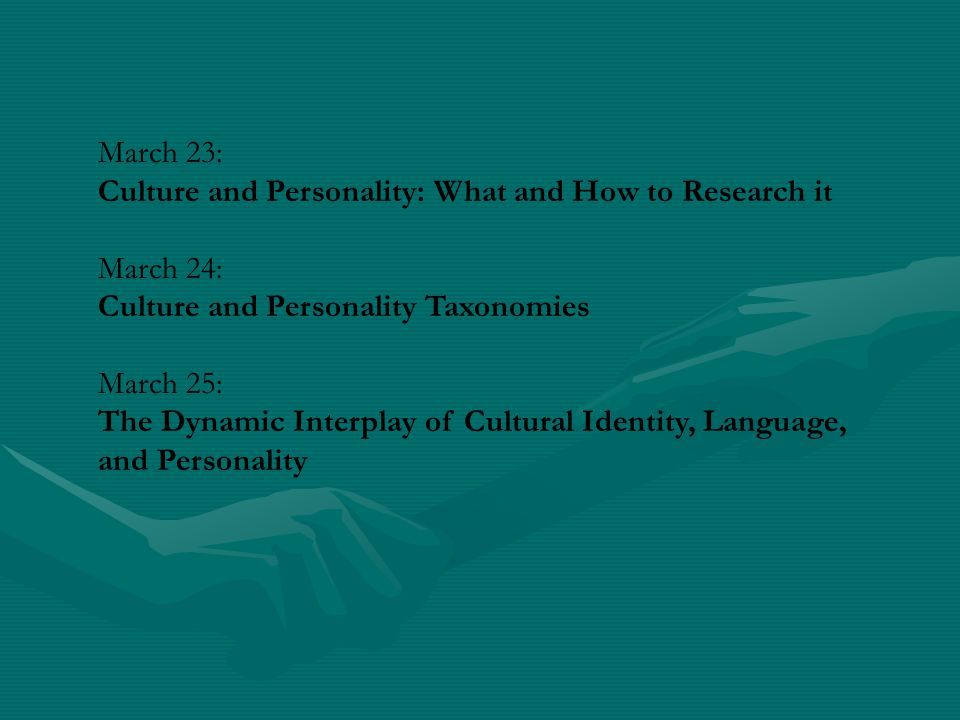 Culture and Personality Processes: Conceptual and Methodological Issues Veronica Benet-Martinez University of California at Riverside, USA Universitat