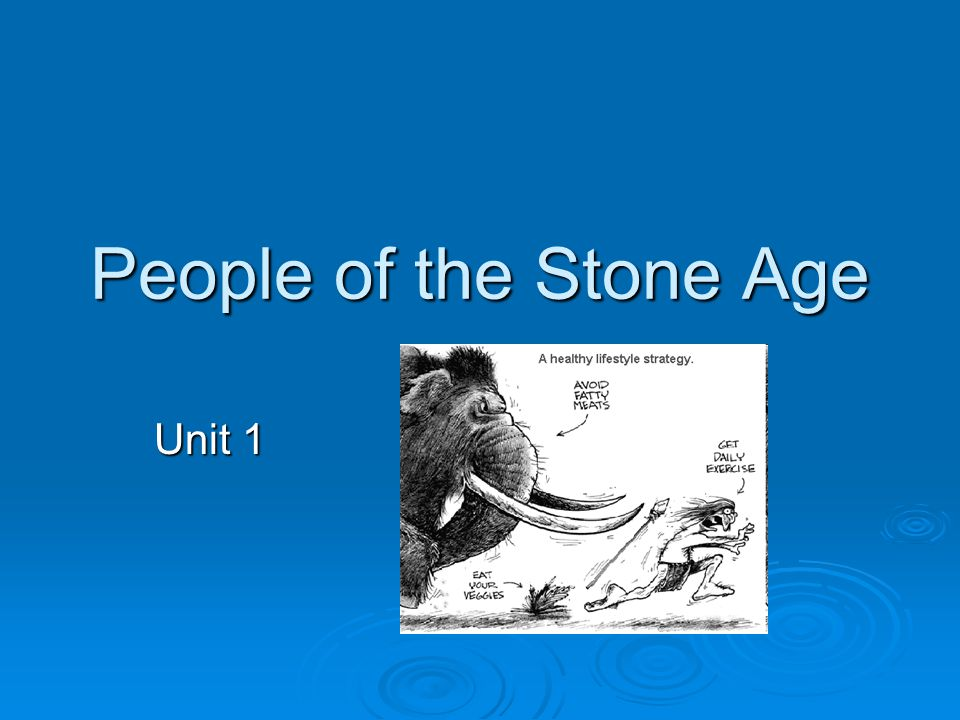 People of the Stone Age Unit 1