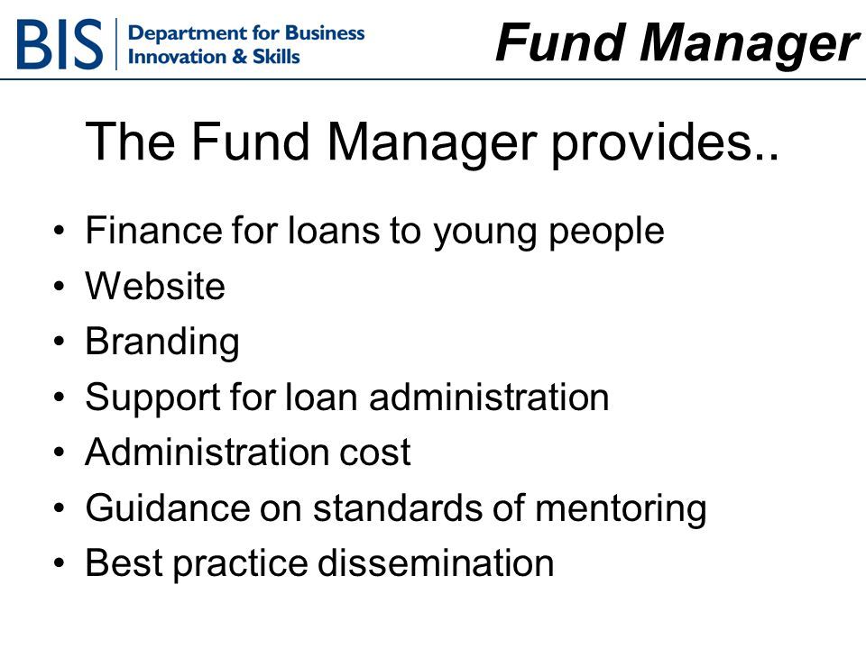 The Fund Manager provides..