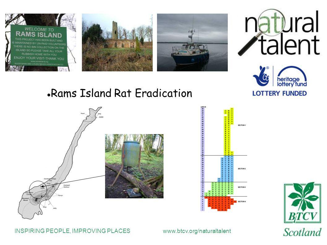 INSPIRING PEOPLE, IMPROVING PLACESwww.btcv.org/naturaltalent Rams Island Rat Eradication