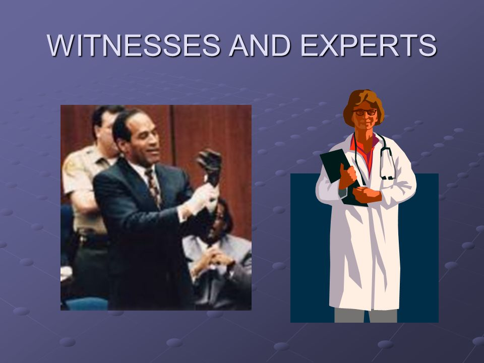 WITNESSES AND EXPERTS