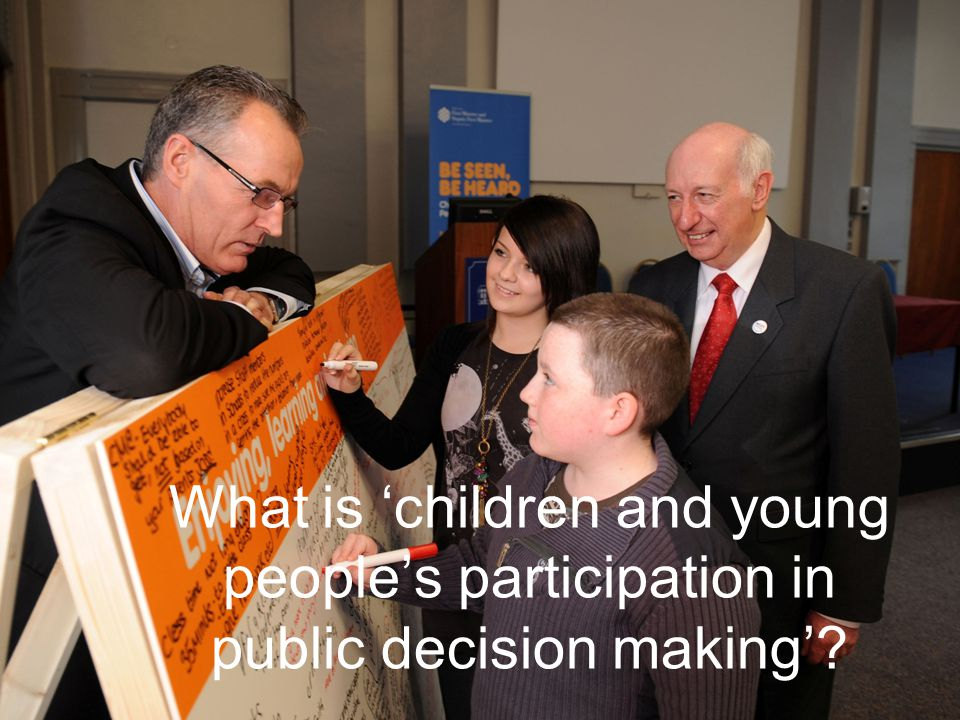 What is 'children and young people's participation in public decision making'?