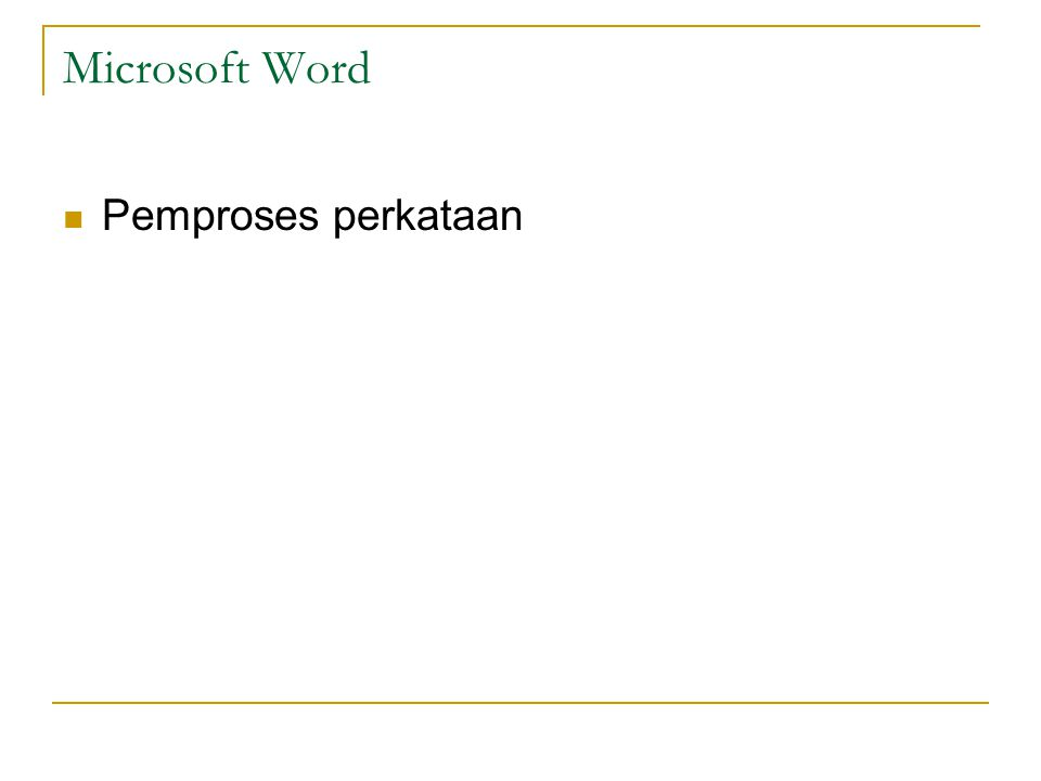 Microsoft Word Pemproses perkataan