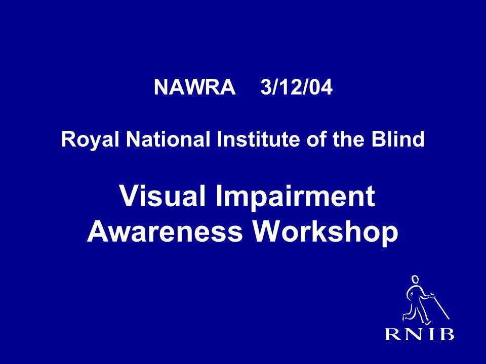 NAWRA 3/12/04 Royal National Institute of the Blind Visual Impairment Awareness Workshop