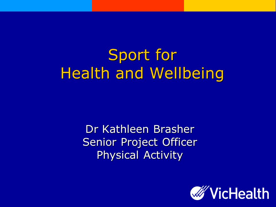 Overview  VicHealth  The benefits of physical activity through sport and recreation  Sport's role in health and wellbeing