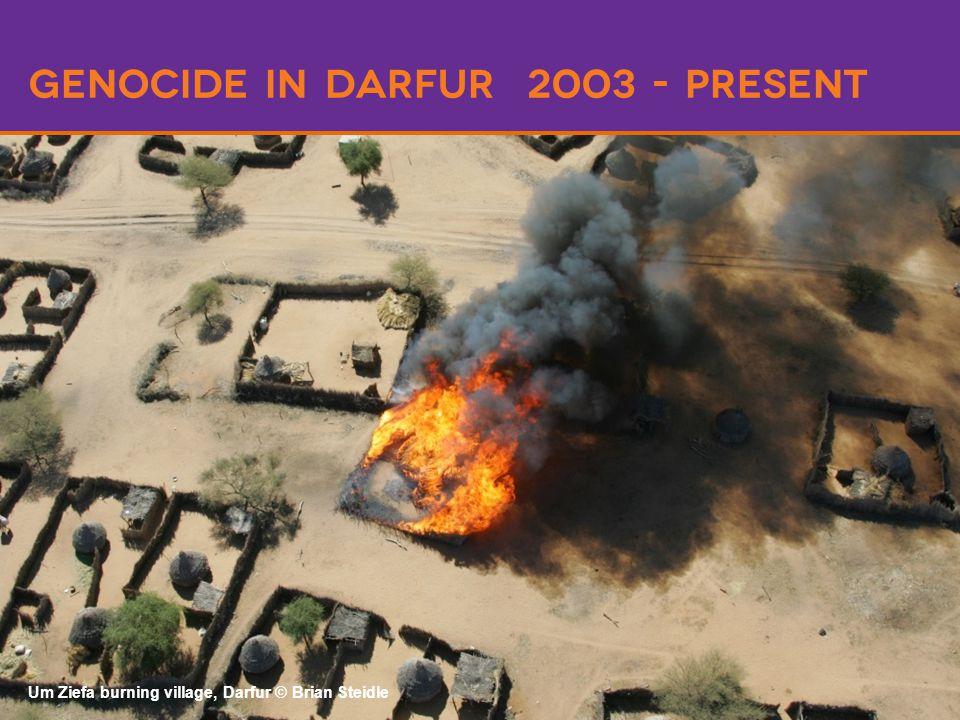 Genocide in darfur 2003 - present Um Ziefa burning village, Darfur © Brian Steidle