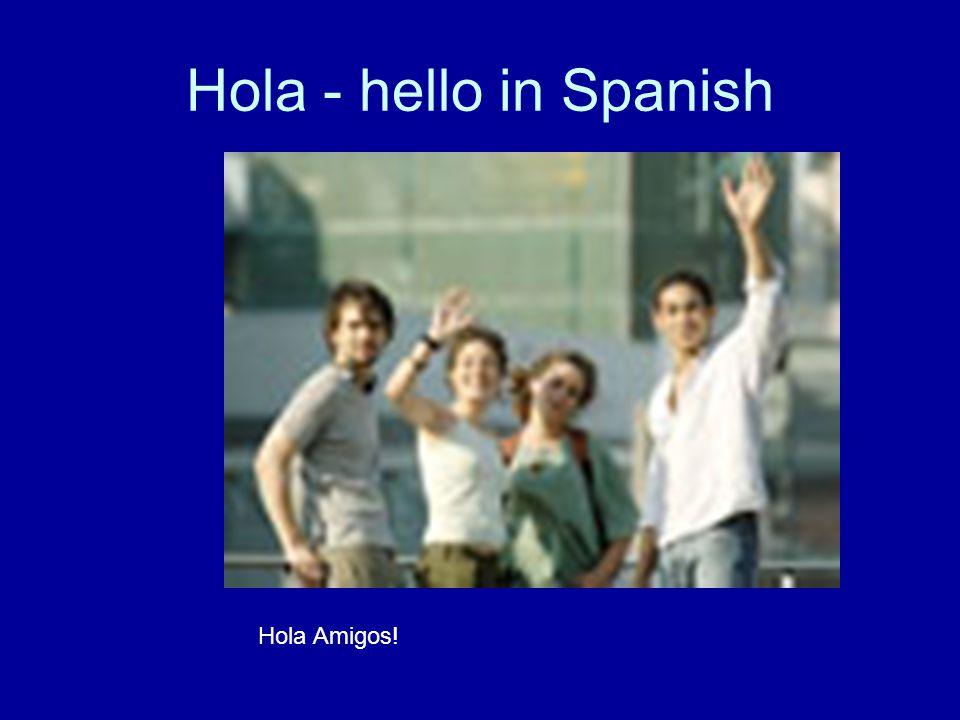 Hola - hello in Spanish Hola Amigos!
