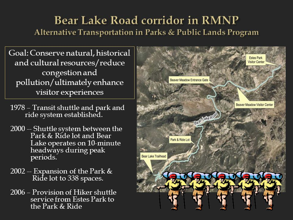 Introducing high frequency shuttles to the Bear Lake Road corridor has increased access to the trails within the corridor and has caused impacts:  Integrity of the Park  Resource Degradation  Managerial Concerns