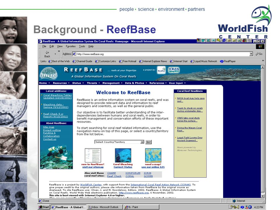 people  science  environment  partners Background - FishBase