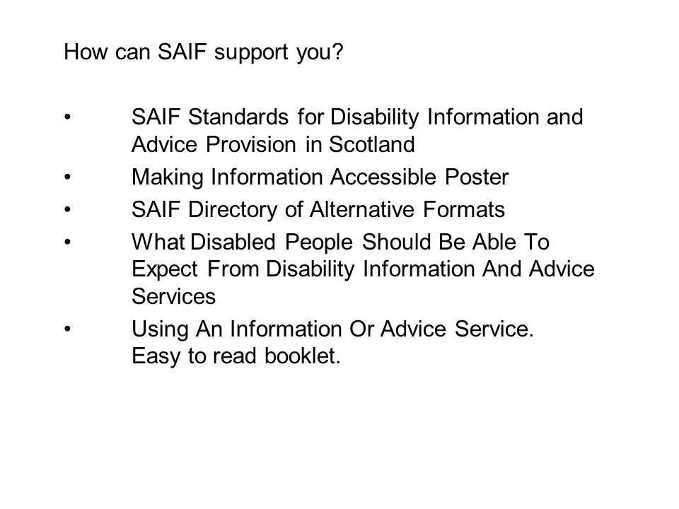 How can SAIF support you.