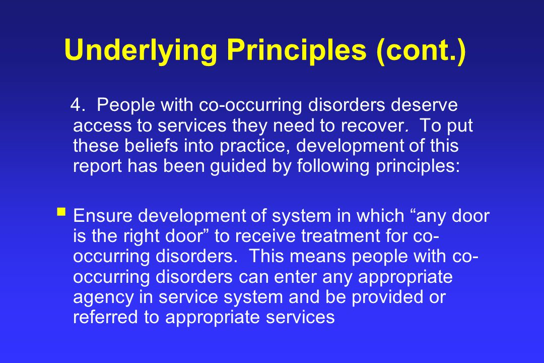 Underlying Principles (cont.) 4.