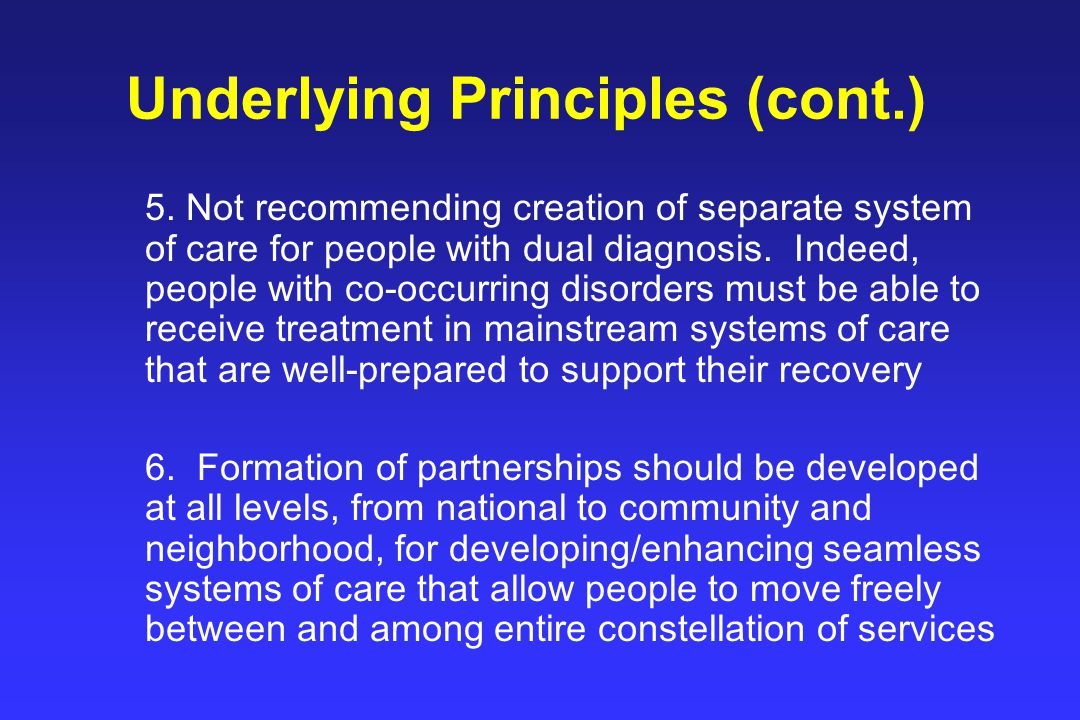 Underlying Principles (cont.) 5.